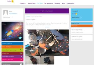 """Page """"Vos Blogs"""" du site Ludilab'Oh l'Espace"""